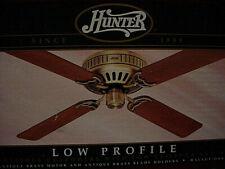 """NEW Hunter Ceiling Fan #22427 Antique Brass 52"""" (4) Blade Low Profile Walnut Oak"""