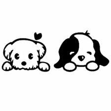 Puppy Love Decal Cartoon Vinly Sticker Macbook Laptop Car Window Black or White