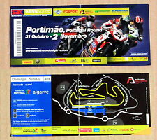 rare SUPERBIKE TICKET PORTIMAO PORTUGAL 2008 - CIRCUIT OPENING RACE