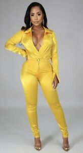 Womens 2pc Pant Set, Long Sleeve Body Suit SMLXL