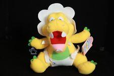 Applause Tiny Dinos Baby Rex Yellow Dinosaur Plush Toy Doll 1992