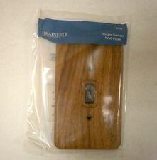 Brainerd 64623 Medium Oak Wood Single Switch Cover Wall Plate