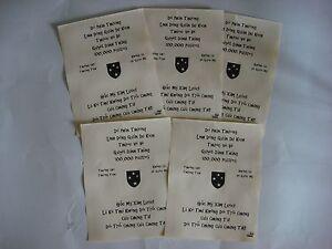 5 Vietnam War VC Propaganda Leaflets Against US Army 23rd INFANTRY Division