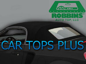 "2000-07 Toyota MR2 Spyder Convertible Top & Heated Glass ""Robbins"" Black Vinyl"