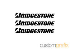 3 x Bridgestone Tyres Car Motorbike Tank Belly Pan Sticker Decals, Any Colour