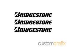 3 X los neumáticos Bridgestone Auto Moto Tanque Belly Pan Etiqueta calcomanías, Cualquier Color