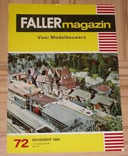 Faller AMS ---  Faller Magazin 72, November 1969, Sprache Niederländisch