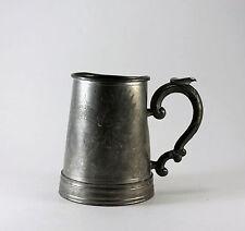 Vintage Pewter & Glass Tankard Stein Mug Ornate Chinese Asian Dragon