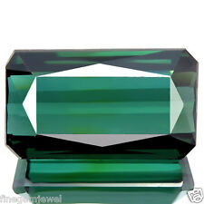5.85ct IF-FLAWLESS HUGE SPARKLING OPEN BEST 5A+ BLUEISH GREEN NATURAL TOURMALINE