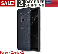 Sony Xperia XZ3 Case Armor Heavy Duty Tactical Slim Fit Shockproof Bumper Blue