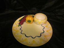Cali Ceramic Dish With 3D Chili Peppers Chips and Salsa Dish
