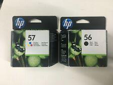 2 original HP Tinten HP 56 Black C6656A HP 57 Color C6657A 2016/17 OVP Rechnung
