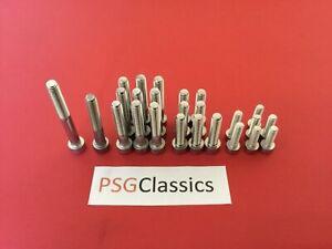 Suzuki GP100 GP125 Stainless Steel Engine Cover Allen Screws Set Kit Bolts GP UK