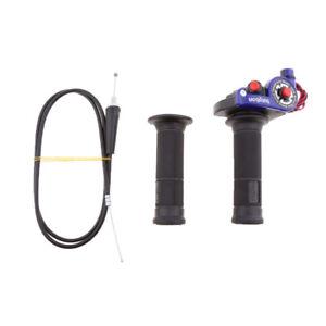 """125 140 150cc Pit Bike Quick Action Twist Gasgriff Kabel 43"""" Blau"""