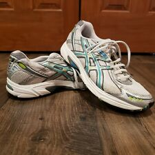 Asics Gel-Kanbarra 4 womens size 9 white teal gray chartreuse green shoes T975N