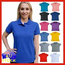 Ladies Polo Shirt Casual Plain Womens uniform Blank Shirts size 8 - 24   LR-PW01