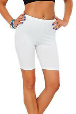 NEW WOMENS CYCLING SHORTS LADIES STRETCH PLAIN DANCE GYM SHORTS PLUS SIZE 10-22