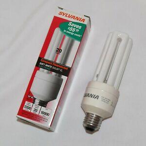 CFL 20W Light Bulb 1200 Lumens E26 Medium Base CF20EL 29308 Warm White 3000K 830