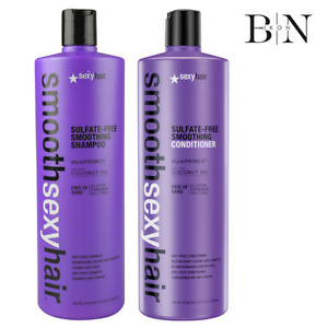 SEXY HAIR SMOOTH ANTI-FRIZZ CONDITIONER 1000ML & SHAMPOO 1000ML DUO + FREE PUMPS