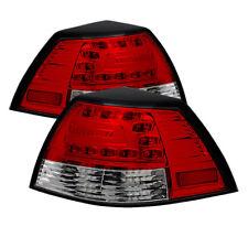 Pontiac 08-09 G8 Red Clear LED Rear Tail Lights Brake Lamp Set GXP Base GT Sedan