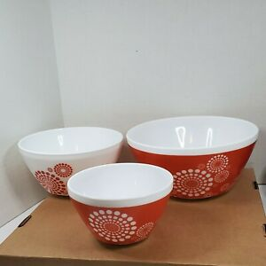 VINTAGE CHARM - TICKLED PINK NESTING/MIXING BOWL SET - INSPIRED BY PYREX
