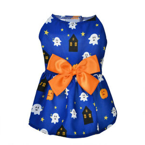 Pet Halloween Costume Small Dog Cat Princess Skirt Party Dress Fancy Top Clothes
