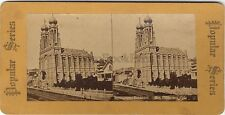 Synagogue Emanuel Emanu-El of San Francisco USA Juif Stereo Stereoview Vintage