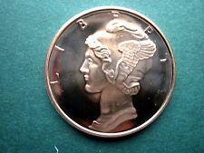 MERCURY  DIME  1 oz. Copper Round