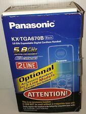 (New Open Box!) Panasonic Kx-Tga670B 5.8 Ghz Expandable Digital Cordless Handset