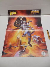 Wizard Comic Book Magazine MiniPoster Boba Fett Star Wars Darth Vader Dark Horse