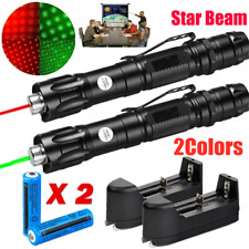 2x 900miles Rechargeable Red+Green Laser Pointer Pen Astronomy Star Beam Torch