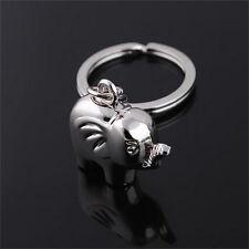 Vintage Funny Elephant Gold Keychain Keyring Key Charm Keyfob Gift Souvenir JR
