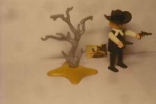 Soldatini Vintage Playmobil Geobra 1974 Sceriffo e albero morto.