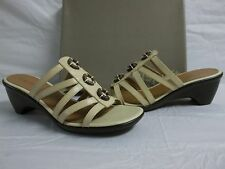 Easy Spirit Size 10 M Sona Ivory Leather Slides Sandals New Womens Shoes