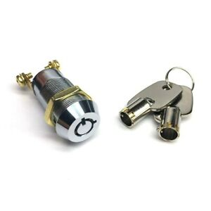NEW Electrical Barrel Switch Key Removable In ON or OFF Position All Keyed Alike