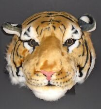 TIGER HEAD YELLOW,BLACK,WHITE FAUX FUR 3D REAL LOOKING LRG BACKPACK,SHOULDER BAG