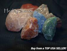 Chakra Reiki Rough Cut Healing Crystals 7 Stones Quartz Jasper Amethyst Calcite