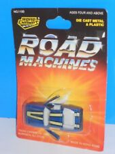 Road Champs Road Machines Mid 80s Release 1980s Corvette Blue On Card