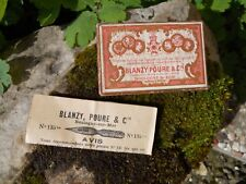 Ancienne boite de plumes Blanzy Poure avec notice
