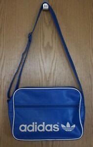 adidas Umhängetasche Orig. Airliner Bag Vintage Blau Weiß Retro Sporttasche