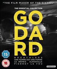 Jean-Luc Godard Collection NEW Classic Blu-Ray 5-Disc Set Seberg Karina France