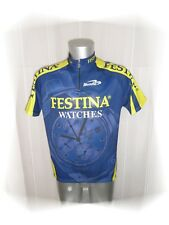 C - Maillot  Cycliste Bleu Jaune Festina Watches Biemme Taille 6 -  M / L