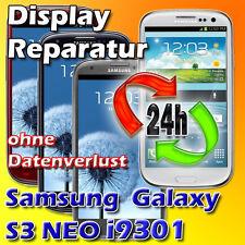 Display Reparatur Samsung Galaxy S3 I9301  Neo Glas Reparatur Blau