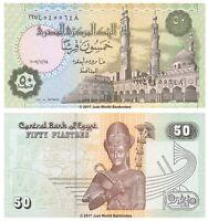 Egypt 50 Piastres 2007 P-62l  Banknotes UNC