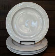 "Set of (4) Syracuse China CASCADE Cream Restaurant Ware Dinner Plates - 10 1/4"""