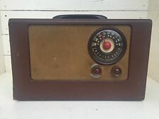 Antique Vintage Emerson Phonograph Co ART DECO Tube Radio AMAZING DIAL