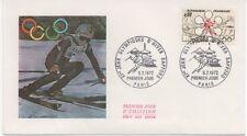 FRANCE 1972.F.D.C. XIe JEUX OLYMPIQUES D'HIVER SAPPORO.OBLIT:LE 5/2/72 PARIS