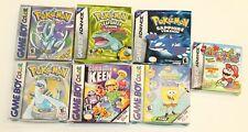 Lot Of 7 Nintendo Gameboy Advance empty boxes Pokemon Spongebob Keen