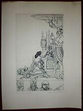 André Lambert gravure originale signée art déco illustrateur costumes théâtre