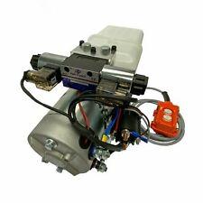 Hydraulic Pump Power Unit Double Acting 12v Dc Dump Trailer 4 Quart Plastic Tank